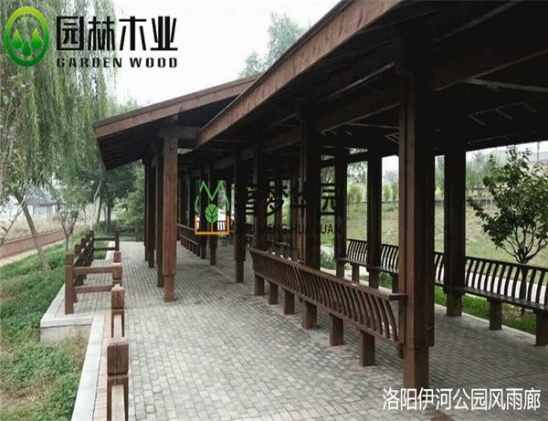 生产防腐木长廊