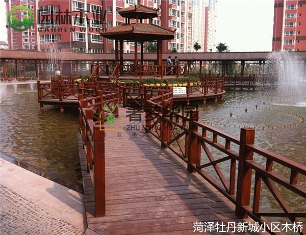 湖北小区木桥